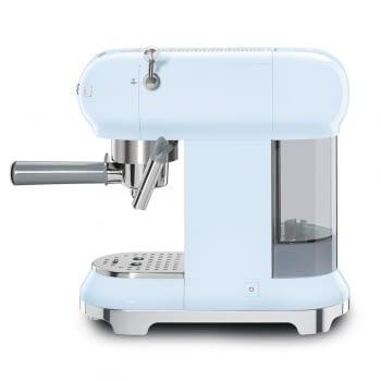 Cafetera Expresso ECF01PBEU SMEG con Sistema de calentamiento Thermoblock | 3 filtros y portafiltros | Deposito 1L | Potencia 1350W | Color Azul - 2