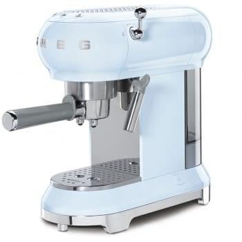 Cafetera Expresso ECF01PBEU SMEG con Sistema de calentamiento Thermoblock | 3 filtros y portafiltros | Deposito 1L | Potencia 1350W | Color Azul - 3