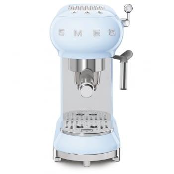 Cafetera Expresso ECF01PBEU SMEG con Sistema de calentamiento Thermoblock | 3 filtros y portafiltros | Deposito 1L | Potencia 1350W | Color Azul - 4