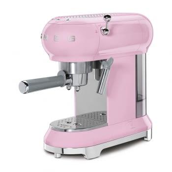Cafetera Expresso ECF01PKEU SMEG con Sistema de calentamiento Thermoblock   3 filtros y portafiltros   Deposito 1L   Potencia 1350W   Color Rosa - 2