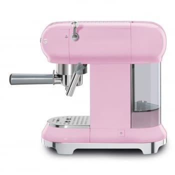 Cafetera Expresso ECF01PKEU SMEG con Sistema de calentamiento Thermoblock | 3 filtros y portafiltros | Deposito 1L | Potencia 1350W | Color Rosa - 4