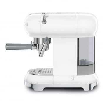 Cafetera Expresso ECF01WHEU SMEG con Sistema de calentamiento Thermoblock   3 filtros y portafiltros   Deposito 1L   Potencia 1350W   Color Blanco - 2