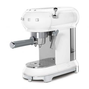 Cafetera Expresso ECF01WHEU SMEG con Sistema de calentamiento Thermoblock   3 filtros y portafiltros   Deposito 1L   Potencia 1350W   Color Blanco - 3
