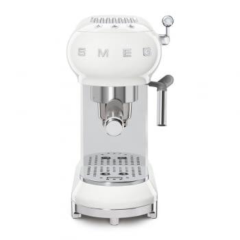Cafetera Expresso ECF01WHEU SMEG con Sistema de calentamiento Thermoblock   3 filtros y portafiltros   Deposito 1L   Potencia 1350W   Color Blanco - 4