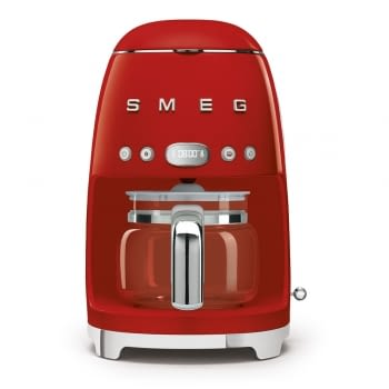 Cafetera de Goteo DCF02RDEU SMEG de 1050 W con Sistema de goteo-filtro | Display LED | Depósito: 1,4L | 3 sistemas de protección | Color: Rojo
