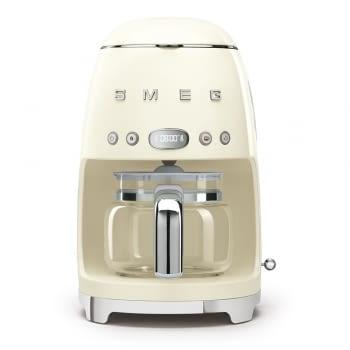 Cafetera de Goteo DCF02CREU SMEG de 1050 W con Sistema de goteo-filtro | Display LED | Depósito: 1,4L | 3 sistemas de protección | Color: Crema