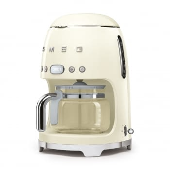 Cafetera de Goteo DCF02CREU SMEG de 1050 W con Sistema de goteo-filtro | Display LED | Depósito: 1,4L | 3 sistemas de protección | Color: Crema - 2