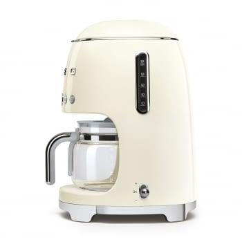 Cafetera de Goteo DCF02CREU SMEG de 1050 W con Sistema de goteo-filtro | Display LED | Depósito: 1,4L | 3 sistemas de protección | Color: Crema - 3