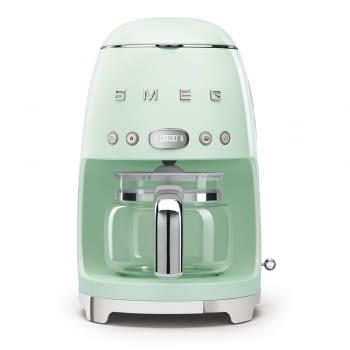 Cafetera de Goteo DCF02PGEU SMEG de 1050 W con Sistema de goteo-filtro | Display LED | Depósito: 1,4L | 3 sistemas de protección | Color: Verde Agua