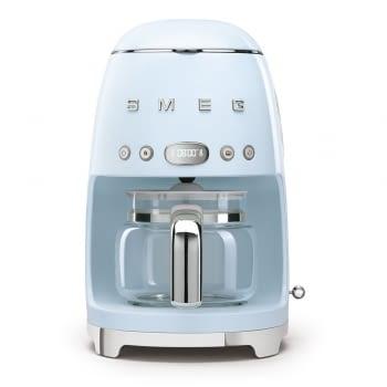 Cafetera de Goteo DCF02PBEU SMEG de 1050 W con Sistema de goteo-filtro | Display LED | Depósito: 1,4L | 3 sistemas de protección | Color: Azul