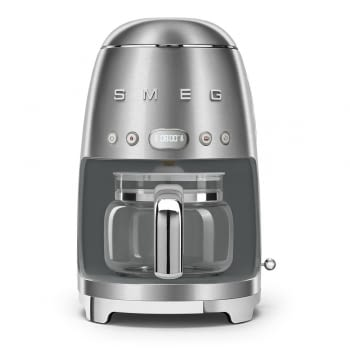 Cafetera de Goteo DCF02SSEU SMEG de 1050 W con Sistema de goteo-filtro | Display LED | Depósito: 1,4L | 3 sistemas de protección | Acabado Inoxidable - 1