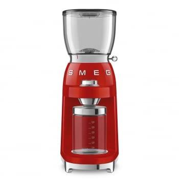 Molinillo de Café CGF01RDEU SMEG Rojo con Capacidad 350g | 30 niveles de molido | 9 funciones | Almacenaje 130gr