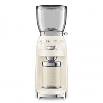 Molinillo de Café CGF01CREU SMEG Crema con Capacidad 350g | 30 niveles de molido | 9 funciones | Almacenaje 130gr