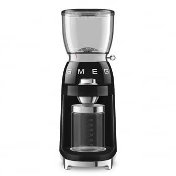 Molinillo de Café CGF01BLEU SMEG Negro con Capacidad 350g | 30 niveles de molido | 9 funciones | Almacenaje 130gr