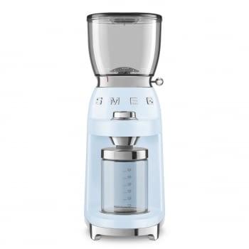 Molinillo de Café CGF01PBEU SMEG Azul con Capacidad 350g | 30 niveles de molido | 9 funciones | Almacenaje 130gr