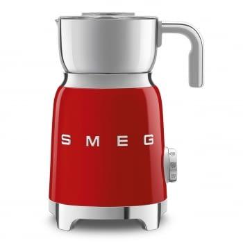 Espumador de leche MFF01RDEU SMEG Rojo con Sistema de inducción | Capacidad recipiente 600 ml | Capacidad para espumar 250gr | 8 Funciones