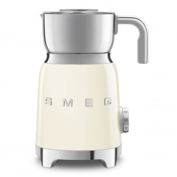 Espumador de leche MFF01CREU SMEG Crema con Sistema de inducción | Capacidad recipiente 600 ml | Capacidad para espumar 250gr | 8 Funciones