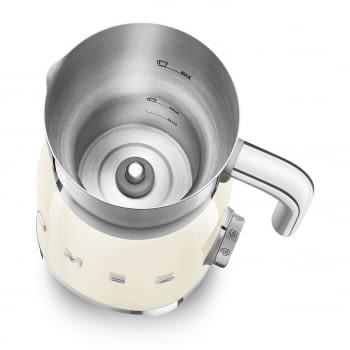 Espumador de leche MFF01CREU SMEG Crema con Sistema de inducción | Capacidad recipiente 600 ml | Capacidad para espumar 250gr | 8 Funciones - 5