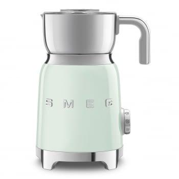 Espumador de leche MFF01PGEU SMEG Verde Agua con Sistema de inducción | Capacidad recipiente 600 ml | Capacidad para espumar 250gr | 8 Funciones