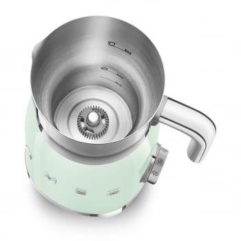 Espumador de leche MFF01PGEU SMEG Verde Agua con Sistema de inducción | Capacidad recipiente 600 ml | Capacidad para espumar 250gr | 8 Funciones - 3