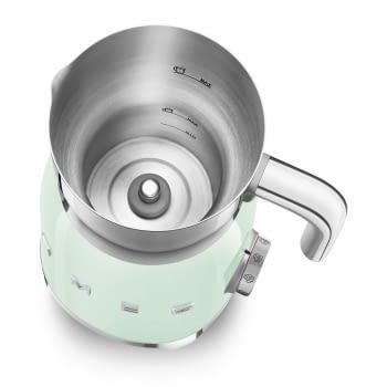 Espumador de leche MFF01PGEU SMEG Verde Agua con Sistema de inducción | Capacidad recipiente 600 ml | Capacidad para espumar 250gr | 8 Funciones - 4