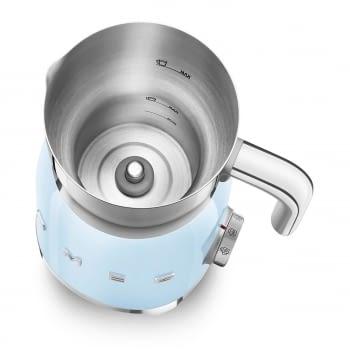 Espumador de leche MFF01PBEU SMEG Azul con Sistema de inducción | Capacidad recipiente 600 ml | Capacidad para espumar 250gr | 8 Funciones - 6