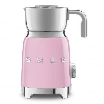 Espumador de leche MFF01PKEU SMEG Rosa con Sistema de inducción | Capacidad recipiente 600 ml | Capacidad para espumar 250gr | 8 Funciones