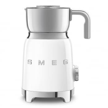 Espumador de leche MFF01WHEU  SMEG Blanco con Sistema de inducción | Capacidad recipiente 600 ml | Capacidad para espumar 250gr | 8 Funciones