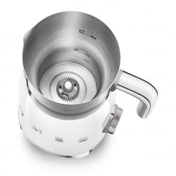 Espumador de leche MFF01WHEU  SMEG Blanco con Sistema de inducción | Capacidad recipiente 600 ml | Capacidad para espumar 250gr | 8 Funciones - 5