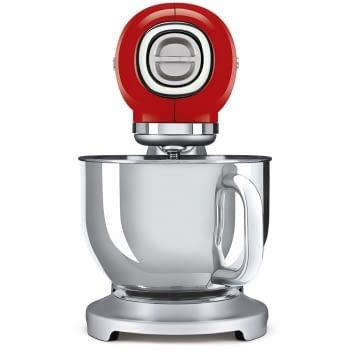 Robot de cocina SMF02RDEU SMEG Rojo de 800 W, con Sistema Planetario | Motor Direct drive | 10 velocidades variables | Capacidad cuenco bol 4,8L - 2