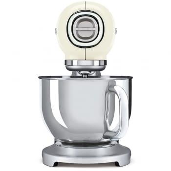 Robot de cocina SMF02CREU SMEG Crema de 800 W, con Sistema Planetario   Motor Direct drive   10 velocidades variables   Capacidad cuenco bol 4,8L - 3