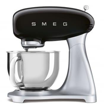 Robot de cocina SMF02BLEU SMEG Negro de 800 W, con Sistema Planetario | Motor Direct drive | 10 velocidades variables | Capacidad cuenco bol 4,8L