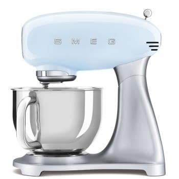 Robot de cocina SMF02PBEU SMEG Azul de 800 W, con Sistema Planetario | Motor Direct drive | 10 velocidades variables | Capacidad cuenco bol 4,8L