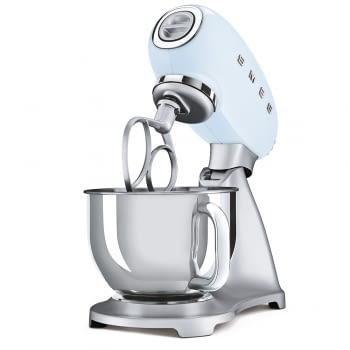 Robot de cocina SMF02PBEU SMEG Azul de 800 W, con Sistema Planetario | Motor Direct drive | 10 velocidades variables | Capacidad cuenco bol 4,8L - 3