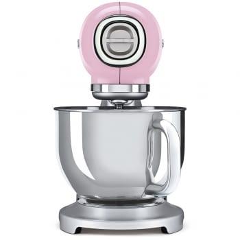 Robot de cocina SMF02PKEU SMEG Rosa de 800 W, con Sistema Planetario | Motor Direct drive | 10 velocidades variables | Capacidad cuenco bol 4,8L - 2