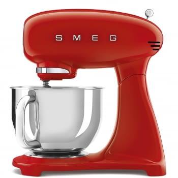 Robot de cocina SMF03RDEU SMEG Rojo de 800 W, con Sistema Planetario | Motor Direct drive | 10 velocidades variables | Capacidad cuenco bol 4,8L