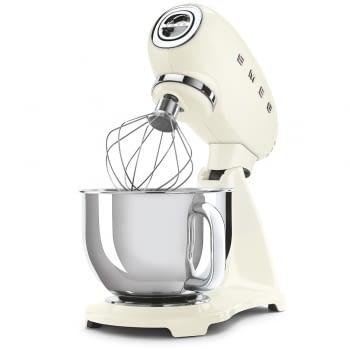 Robot de cocina SMF03CREU SMEG Crema de 800 W, con Sistema Planetario   Motor Direct drive   10 velocidades variables   Capacidad cuenco bol 4,8L - 3