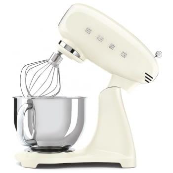 Robot de cocina SMF03CREU SMEG Crema de 800 W, con Sistema Planetario   Motor Direct drive   10 velocidades variables   Capacidad cuenco bol 4,8L - 5