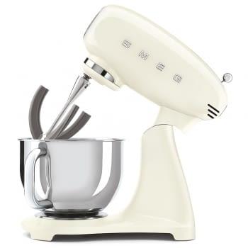 Robot de cocina SMF03CREU SMEG Crema de 800 W, con Sistema Planetario   Motor Direct drive   10 velocidades variables   Capacidad cuenco bol 4,8L - 6