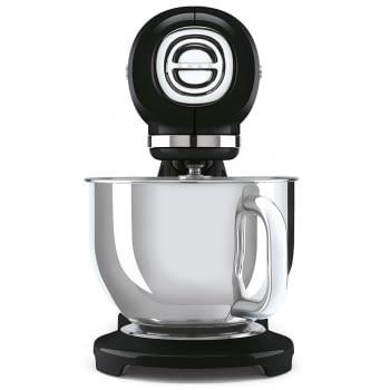Robot de cocina SMF03BLEU SMEG Negro de 800 W, con Sistema Planetario | Motor Direct drive | 10 velocidades variables | Capacidad cuenco bol 4,8L - 2