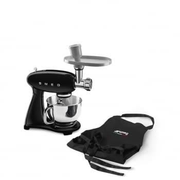 Robot de cocina SMF03BLEU SMEG Negro de 800 W, con Sistema Planetario | Motor Direct drive | 10 velocidades variables | Capacidad cuenco bol 4,8L - 5