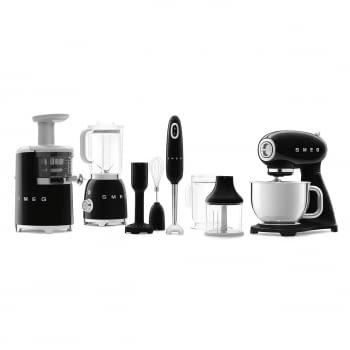 Robot de cocina SMF03BLEU SMEG Negro de 800 W, con Sistema Planetario | Motor Direct drive | 10 velocidades variables | Capacidad cuenco bol 4,8L - 9