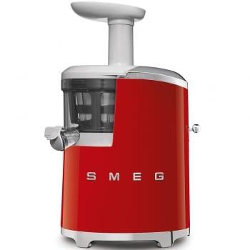 Licuadora SJF01RDEU SMEG Roja de 150 W, con Tecnología de extracción lenta 43 RPM | Jarra 500ml en Tritan | Palanca de ajuste de zumo