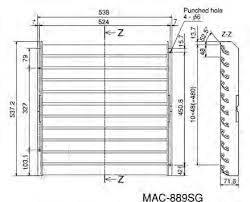 Deflector de aire Mitsubishi electric MAC-889SG - 2