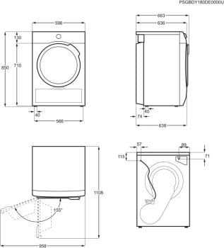 Secadora AEG T8DBK861 Blanca | 8 kg | Serie 8000 | Bomba de Calor  | Inverter | Clase A+++ - 10