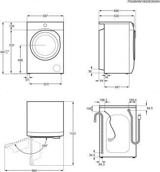 Lavadora AEG L6FBG942P | Serie 6000 Prosense | 9Kg 1400rpm | Inverter | Clase C 2021 | Stock - 8