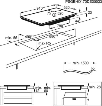 Placa de Inducción Electrolux EIV955 | 90 cm | 5 zonas de Inducción (28 cm) | Conexión Placa-Campana Hob2Hood - 13