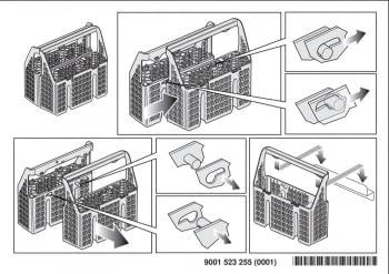 Accesorio BALAY 3AB0DB00 | Cestillo DUO para 60cm de ancho. Consultar en catálogo modelos compatibles. - 2