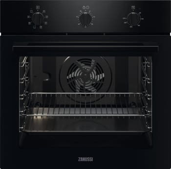 Horno Zanussi ZOHNF1K1 Negro de 72 litros con 7 funciones y limpieza Aqua Clean | Clase A+