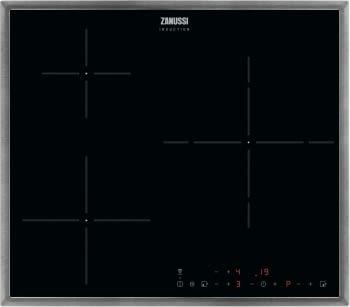 Placa de Inducción Zanussi ZITN633X de 60 cm con 3 Zonas Power (Doble de 28 cm)  | Conexión Placa-Campana Hob2Hood